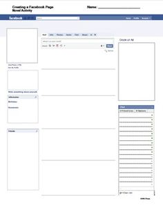 Facebook template: A modern update on the old character analysis/sketch. Includes the editable Microsoft Word version and a PDF copy.