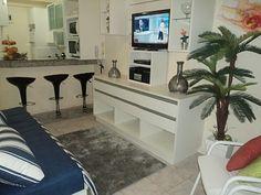 sala conjugada com cozinha