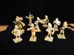 10 Antique Painted Akan Gold Plated Weights by MICSJWL on Etsy, $695.00