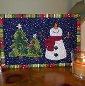 Happy Snowman Mug Rug - via @Craftsy
