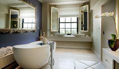 interior design, bathroom dream, blue wall, hotel dc, hotels, hansgroheusa bathroomdream