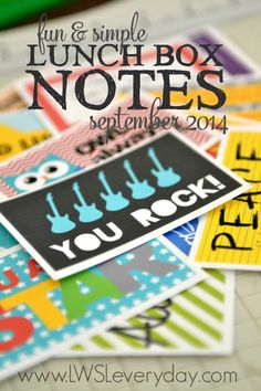 How cute are these printable lunch box notes? They are this month's free printable at LWSLEveryday.com. In addition to free downloads each month, this members only site features includes an awesome community forum, inspiring behind-the-scenes interviews, live webinars, and amazing opportunities & giveaways just for Living Well Spending Less insiders.