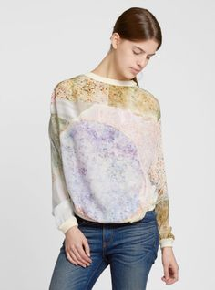 Couverture and The Garbstore - Womens - Anntian - Solar Print Silk Sweater.