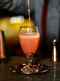 A cocktail that will make you feel like a star: Chief of Affections, with sparkling rose, Aperol and grapefruit juice.