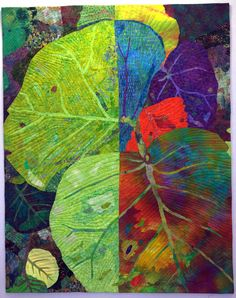 If Leaves Could Choose by Priscilla Kibbee. Art quilt, 2012 Houston International Quilt Festival