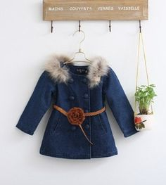 Children Fashion Winter Clothing Sets for Girls Hooded Outerwear & Cute Warm Vest with Floral Design, Free Shipping K0213