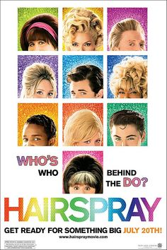 Hairspray ft. John Travolta dressed as a lady:) brittany snow, remake, songs, poster, zac efron, films, hairspray 2007, favorit movi, john travolta