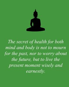 The secret of health.....