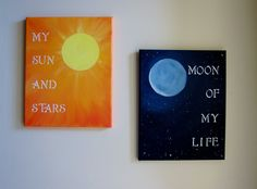 sun and moon painting, game of thrones crafts, life paint, game of thrones painting