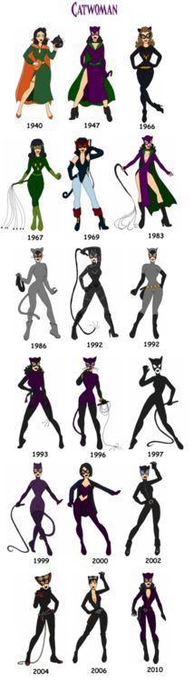 The Gotham City Sirens - Catwoman through the years.