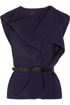 La Petite S*****|Draped crepe top|NET-A-PORTER.COM $743.75.. style recommend I. Post mastectomy fashion