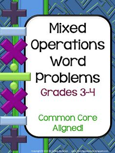 Word problems with multiple steps (Grade 3/4)
