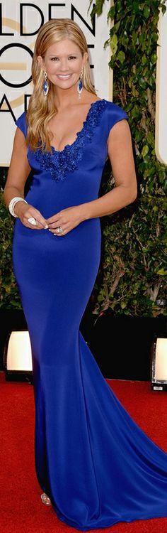 Nancy O'Dell in Marchesa   Golden Globes