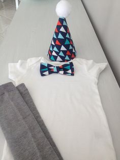 1st Birthday Boy Outfit with Hat  Trendy by LittleGuySkinnyTie, $38.00