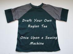 Pattern drafting: Raglan Tee pattern from a basic tee