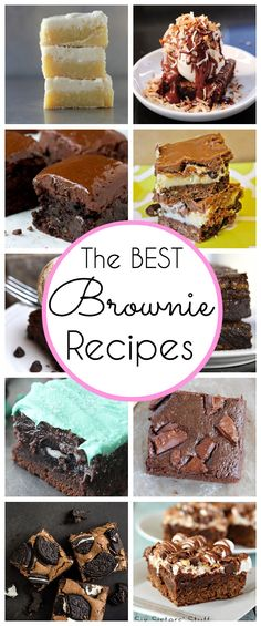 The BEST Brownie Recipes on Pinterest - www.classyclutter.net