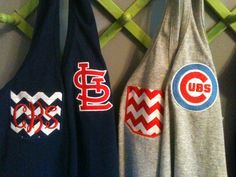 Adorable! Monogrammed Sports Team Racerback tanks St Louis by poppyANDblooms