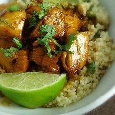 Sweet Chili Lime Chicken with Cilantro Couscous Recipe - Allrecipes.com