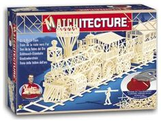 """The Matchitecture Gold Rush Train matchstick kit includes everything needed to make this matchstick model kit.  Included are all the pre-cut card formers along with the glue, matchticks and full instructions.  These instructions will guide you through each stage of the construction until you finally achieve the finished product. We would highly recommend this Matchitecture Gold Rush Trainmatchstick model Kit.  Finished size of model: Size: 540mm (21"""")long x 230mm (9"""") high."""