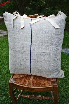 LAZY MARTHA project Vintage Feedsack Pillows - Cedar Hill Farmhouse