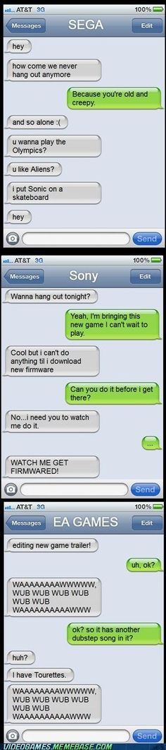 Texting With Game Companies