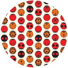 Charley Harper for Birch Fabrics Organic, Lady Bugs