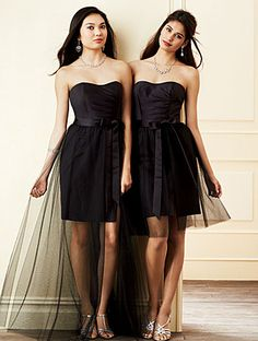 Alfred Angelo Bridesmaid Style 7304L in Black