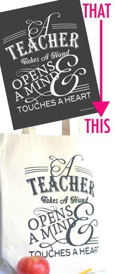 Teacher Appreciation Tote Gift Idea!!