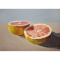 grapefruit - original painting by elizabeth mayville (www.etsy.com/...)