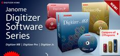 "Digitizer Software ""Janome"" Overview of Digitizer Software Series"