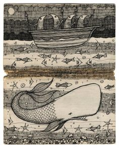 jon carling, merwhal, poster art, kid art, illustr graphic