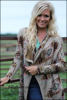 Desert Sky Cardigan with pockets - Filly Flair