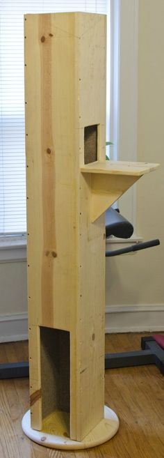 This board has amazing rabbit hutches and cat towers ... I have neither.. great board to investigate.. http://www.pinterest.com/libertymoon74/diy-pets/  DIY Cat Tower - make big enough to hide litter box?