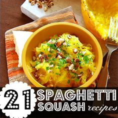 Spaghetti squash recipes!! Just in time for my bountiful harvest!!!
