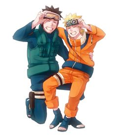 Uchiha Obito y Uzumaki Naruto