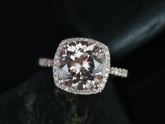 NEW Samina Queen Size 14kt Rose Gold Thin Morganite by RosadosBox, so pretty