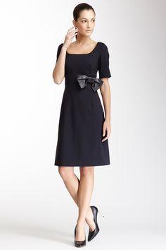Valentino Short Sleeve Bow Dress
