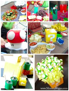 Super Mario Brothers Birthday Party ideas and cake ideas. www.mommyvegas.com