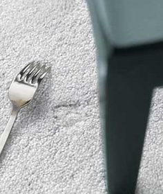 Get out Carpet dents with a fork