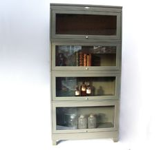 Barrister Style Bookcase. made by art steel in Jamestown, New York. I've been wanting a piece like this forever!