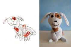Send your child's drawing to the company 'Child's Own' and they will turn it into a stuffed toy!