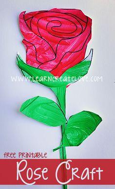 Printable Craft: Rose