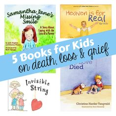 5 Children's Books that Deal with Death, Loss and Grief from I Can Teach My Child. Kinda morbid but will probably come in handy at some point especially since they already have a grandpa up in heaven.