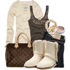 Women's outfits. Women's fashion. Women's clothes. Winter. Ambercrombie. Hollister. Louis Vuitton. Boots.