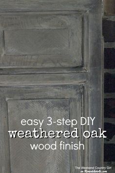 Easy 3-step DIY Weat