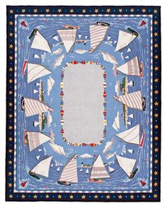 Claire Murray Hooked Rug for Coastal Living