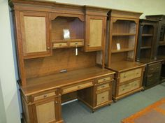Bridgeport Credenza with Hutch, Lateral File with Hutch - eclectic - desks - columbus - Geitgey's Amish Country Furnishings