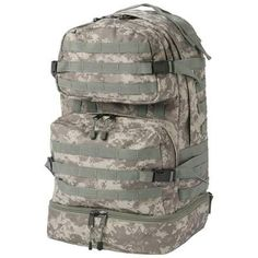 Extreme Pak Digital Camouflage Backpack With Nylon Rope-Pulls, Shoulder Straps