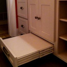 Faux drawer used as a step stool for the kids. step stools, kids kitchen stool, faux drawer