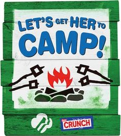 "Nestlé Crunch's Girl Scout Candy Bars are back for a limited time this summer. To help draw additional interest in the bars, the brand is incorporating a cause marketing campaign called ""Let's Get Her to Camp"". nestl crunch, market campaign, nestlé crunch"